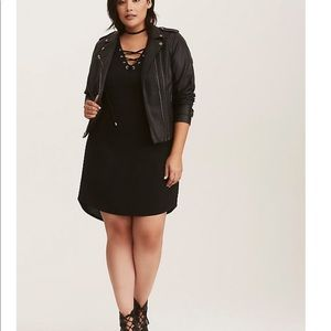 Torrid sleeveless lace up dress black 2X